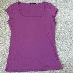 Square neck purple top